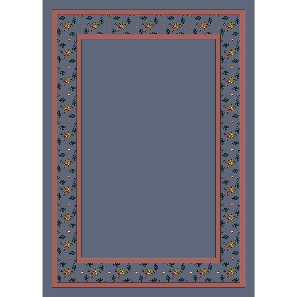 Milliken Design Center Garden Estate Rug in Lapis-3.10x5.4 Rectangle