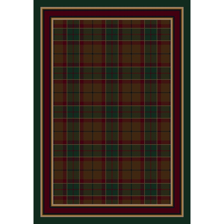 Milliken Signature Magee Tartan Rug in Emerald-10.9x13.2 Rectangle