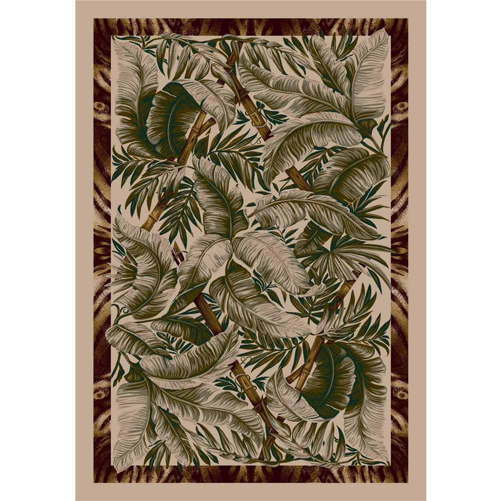 Milliken Signature Jungle Fever Rug in Pearl Mist-2.8x3.10 Rectangle