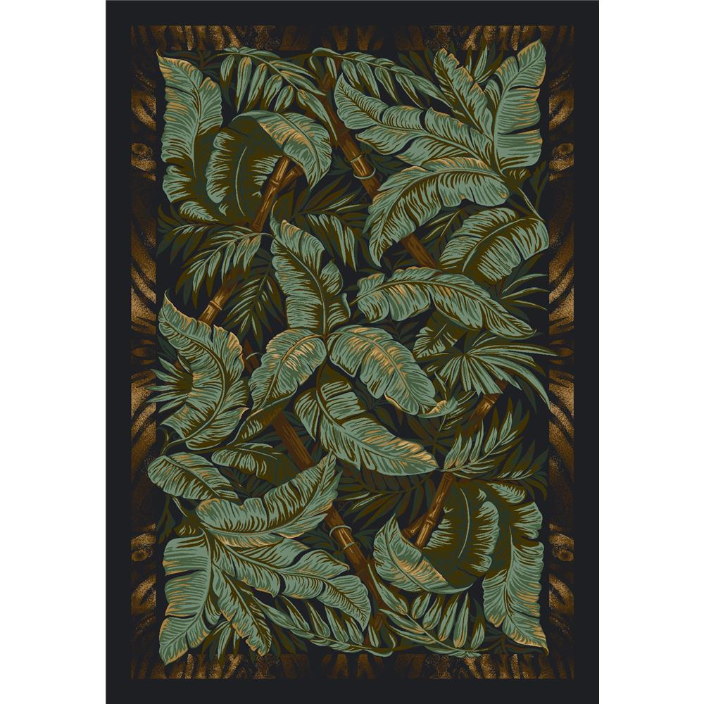 Milliken Signature Jungle Fever Rug in Ebony-2.8x3.10 Rectangle