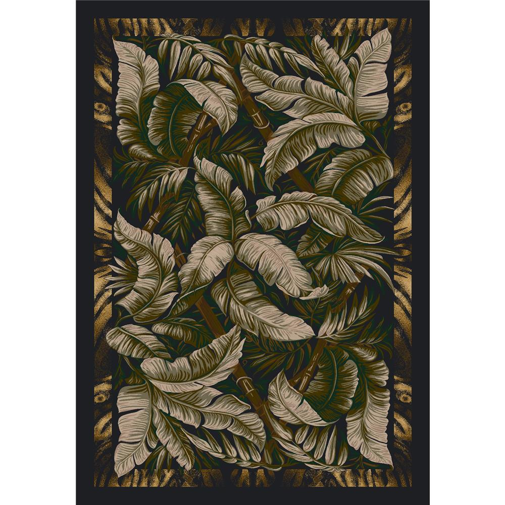 Milliken Signature Jungle Fever Rug in Ebony Sage-2.8x3.10 Rectangle