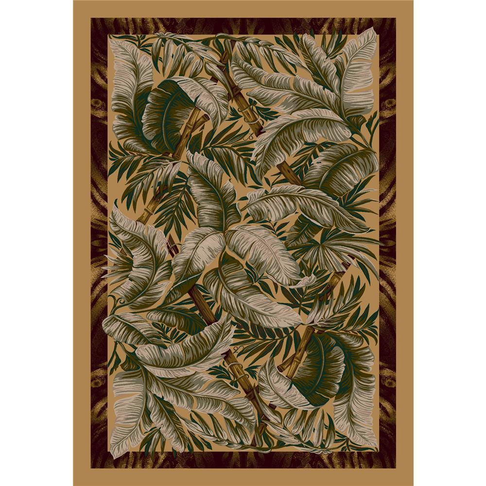 Milliken Signature Jungle Fever Rug in Light Maize-2.8x3.10 Rectangle