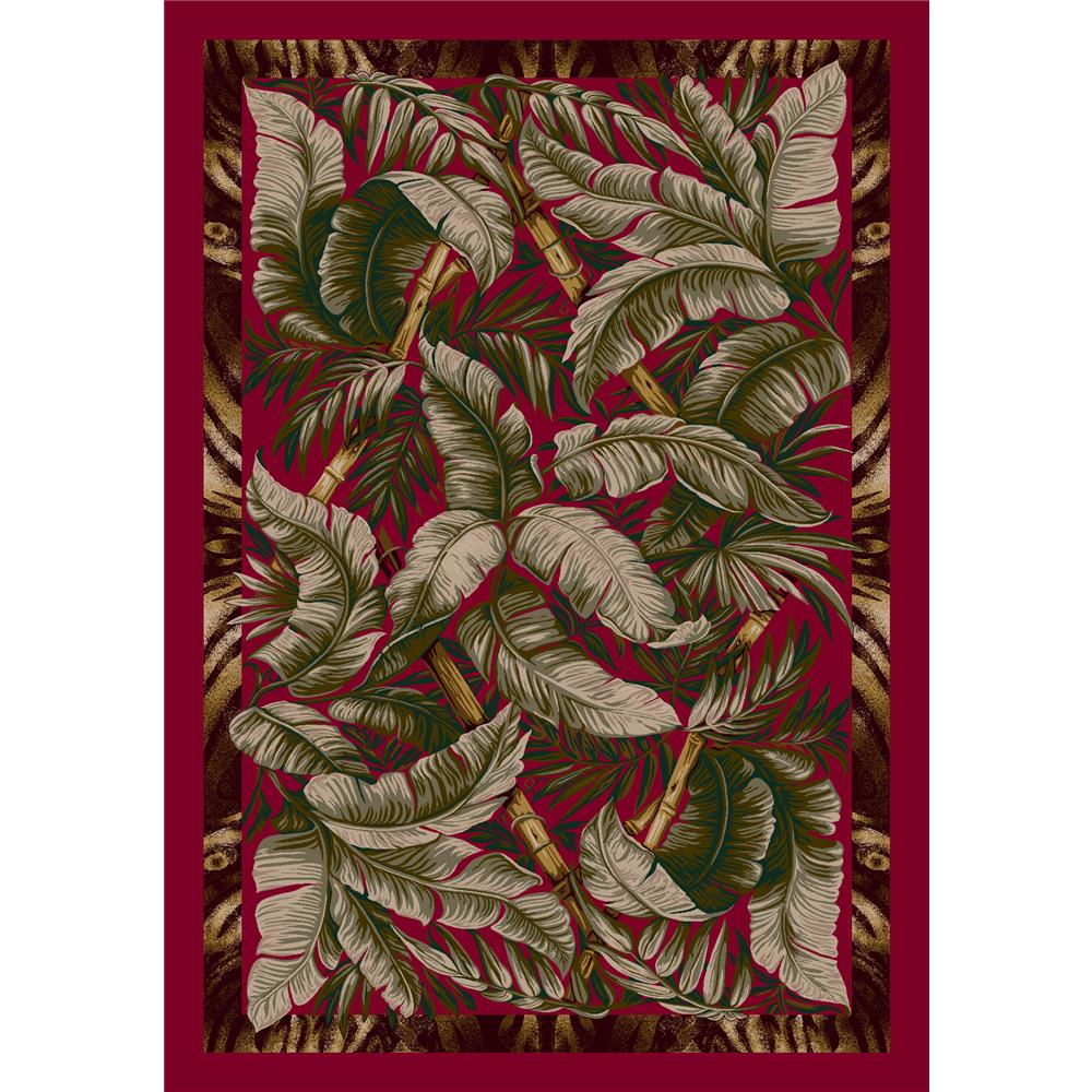 Milliken Signature Jungle Fever Rug in Ruby-2.8x3.10 Rectangle