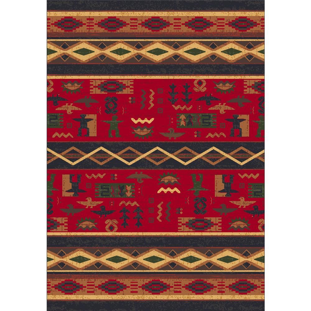 Milliken Modern Times Kiva Rug in Ebony-2.8x3.10 Rectangle