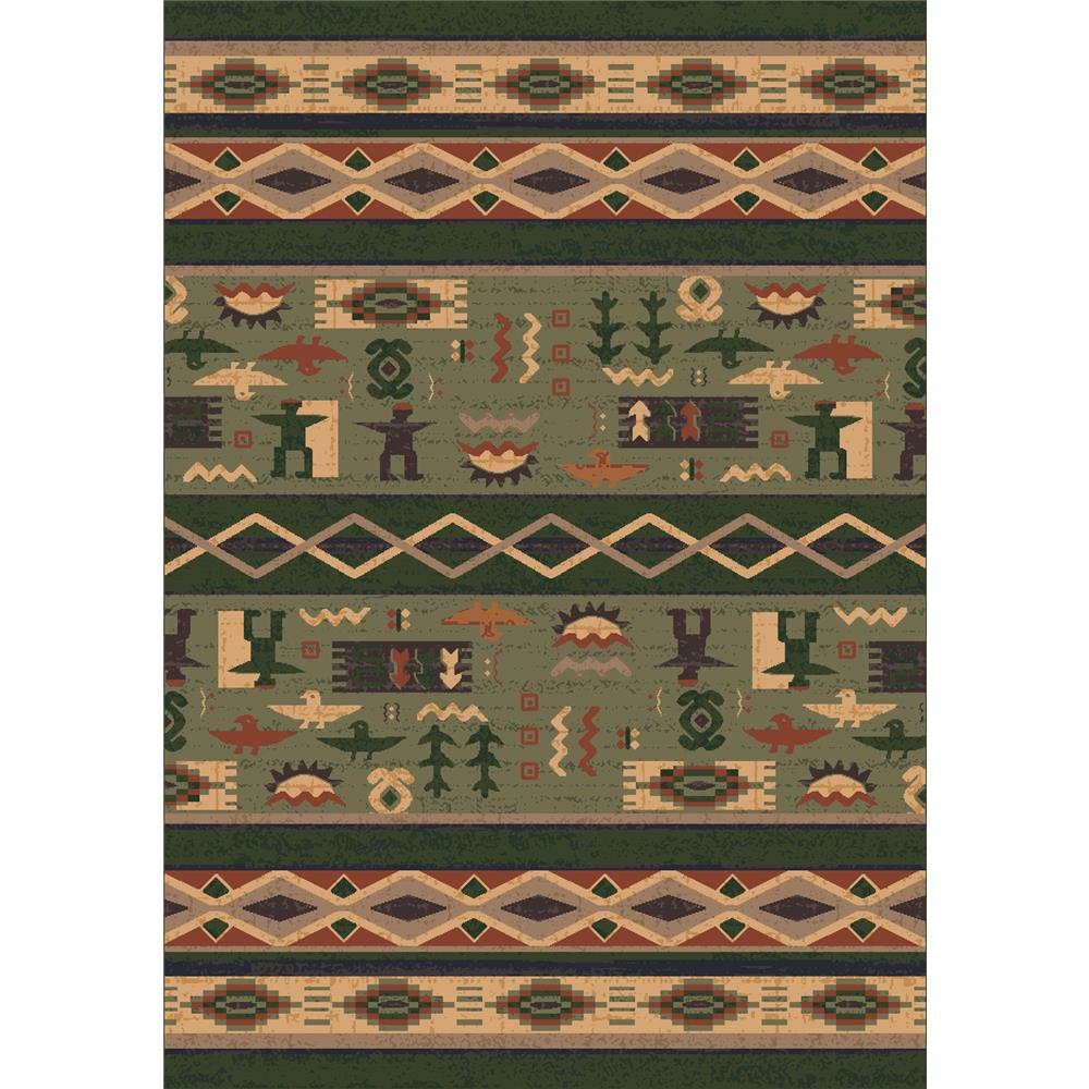 Milliken Modern Times Kiva Rug in Autumn Fores-3.10x5.4 Rectangle