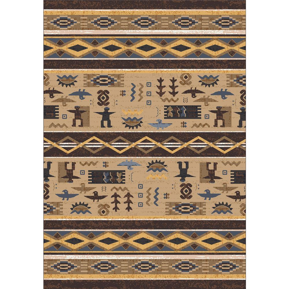 Milliken Modern Times Kiva Rug in Velvet Brown-2.8x3.10 Rectangle