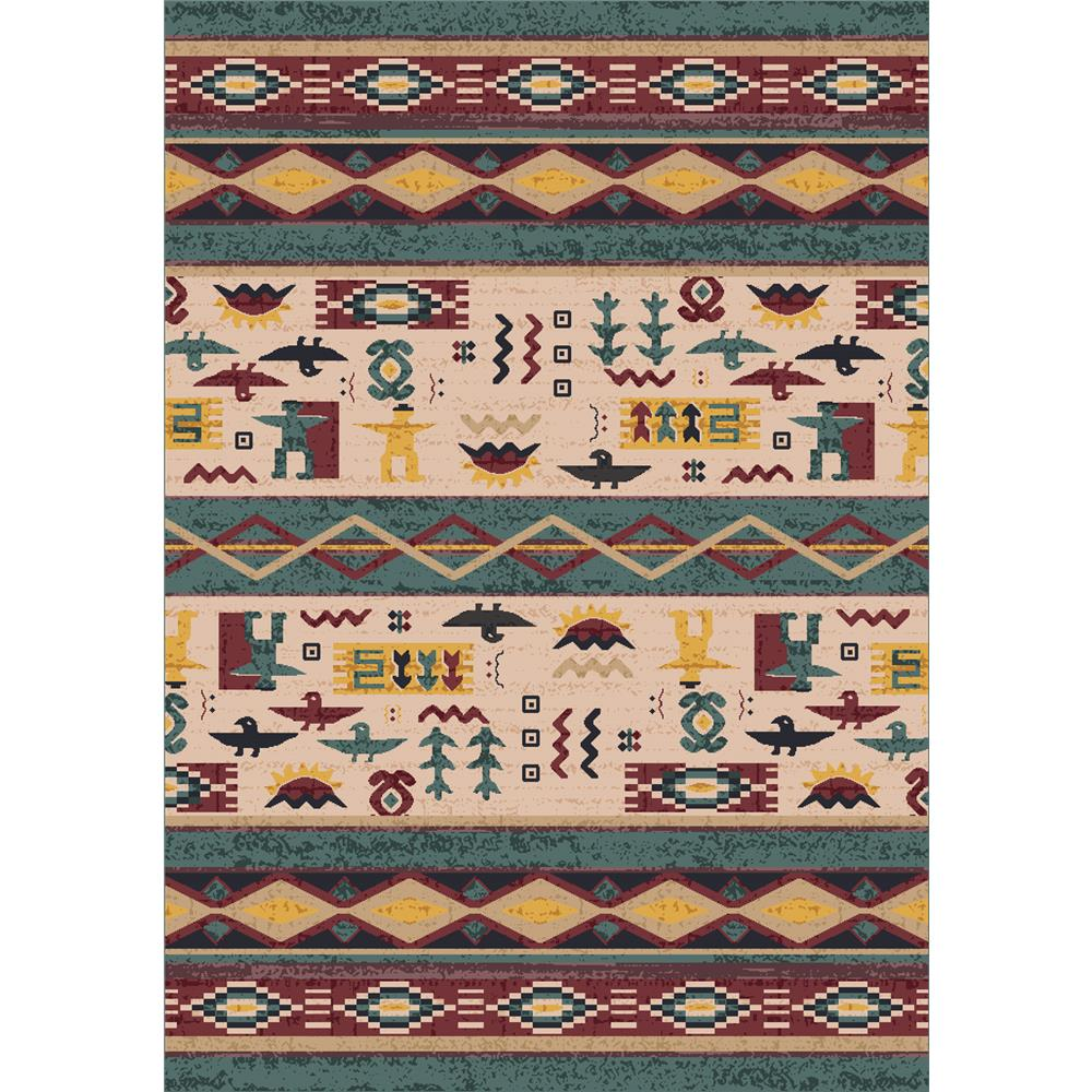 Milliken Modern Times Kiva Rug in Hazy Forest-2.8x3.10 Rectangle
