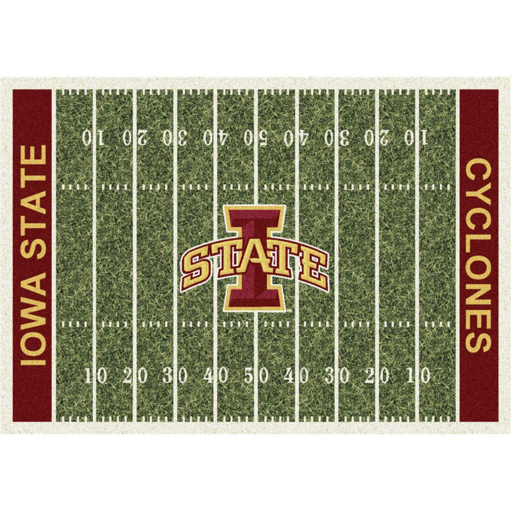 Milliken College Home Field Iowa State Team Rug in 3