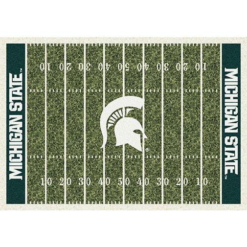 Milliken College Home Field Michigan State Team Rug in 3