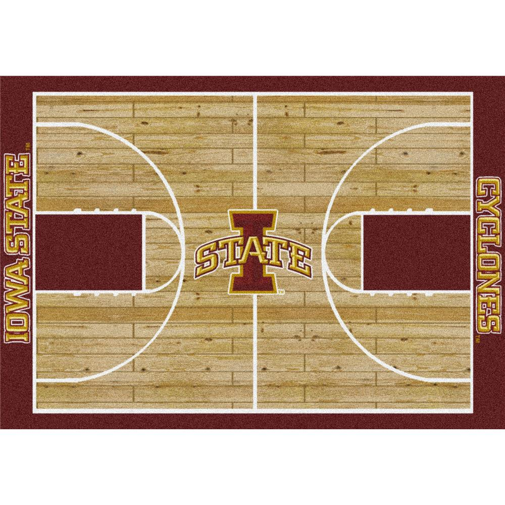 Milliken College Home Court Iowa State Team Rug in 3