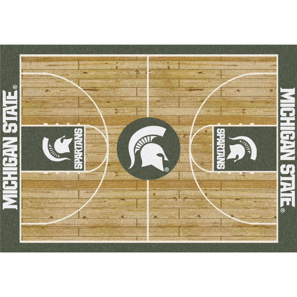 Milliken College Home Court Michigan State Team Rug in 3