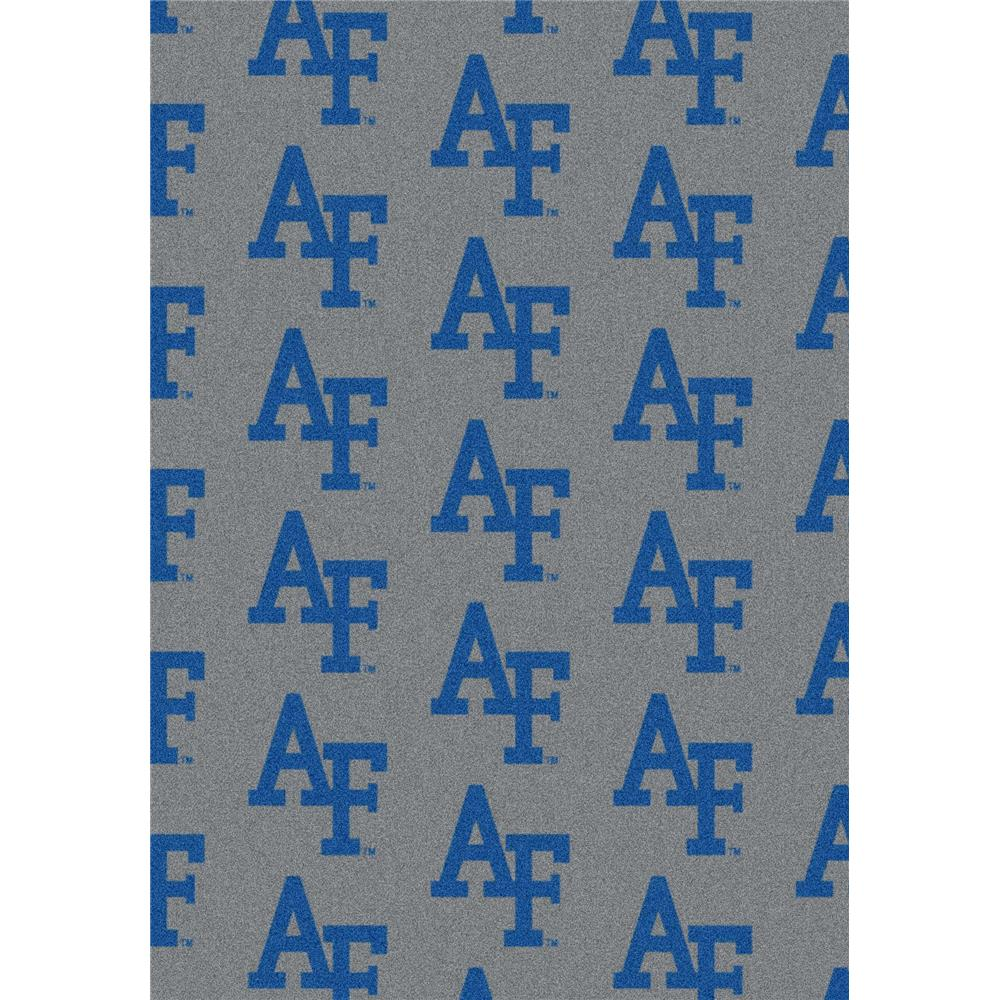 Milliken College Repeating Air Force Team Rug in 3