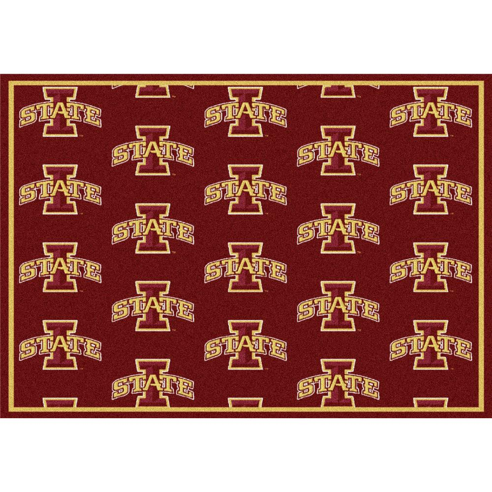 Milliken College Repeating Iowa State Team Rug in 3
