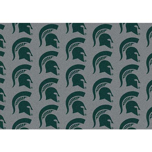 Milliken College Repeating Michigan State Team Rug in 3