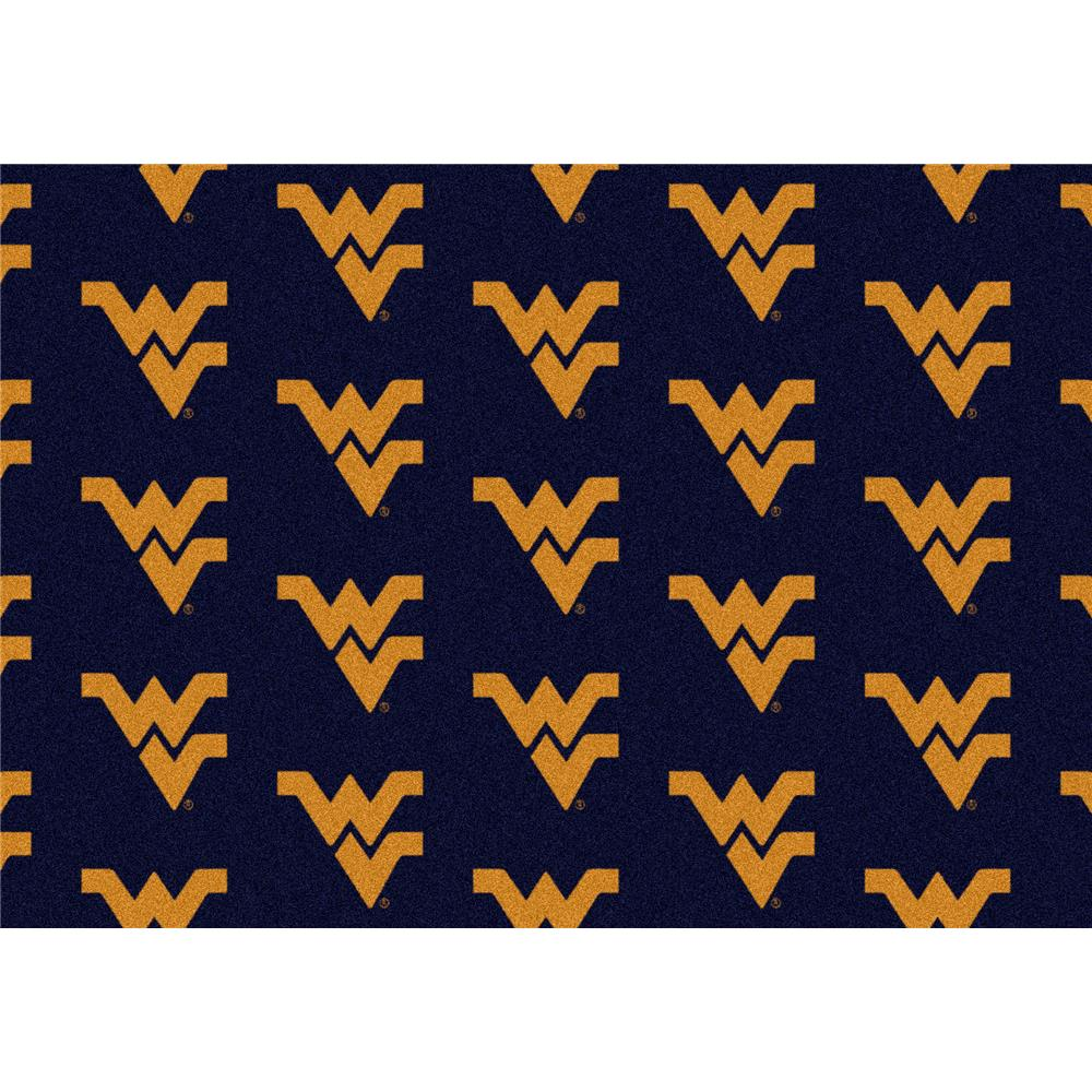 Milliken College Repeating West Virginia Team Rug in 3