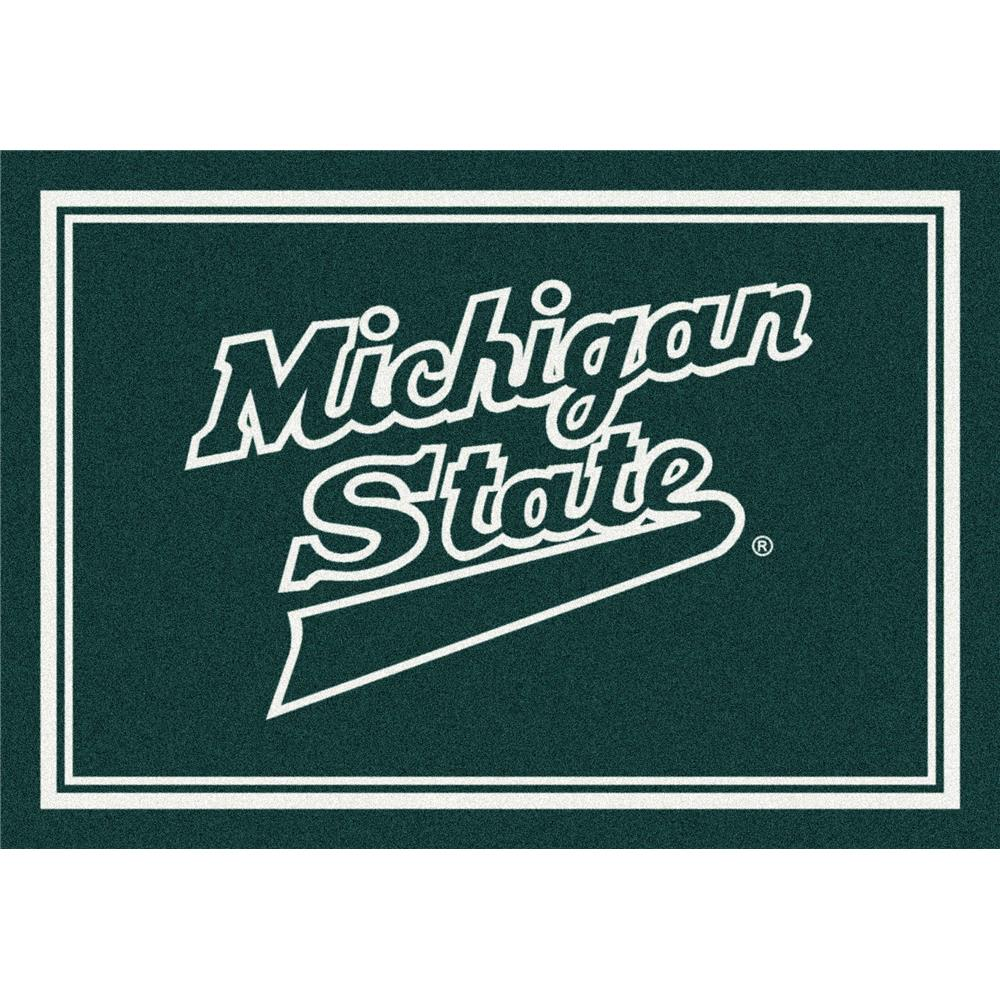 Milliken College Team Spirit Michigan State Team Rug in 2