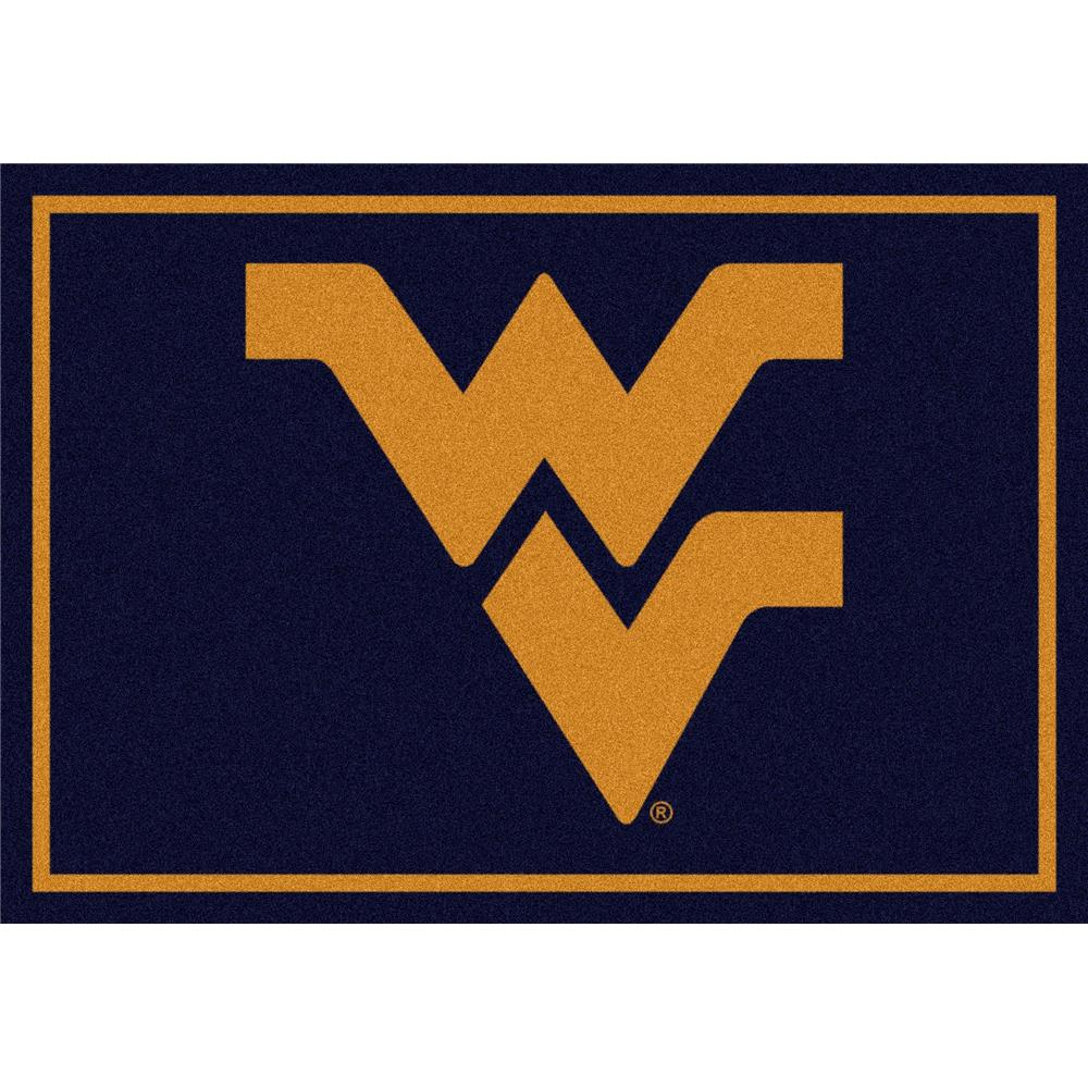 Milliken College Team Spirit West Virginia Team Rug in 2