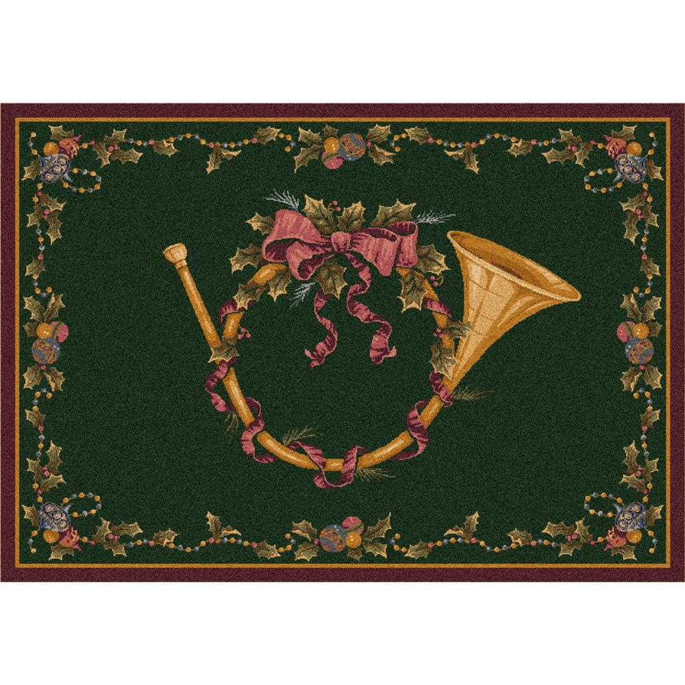Milliken Holiday French Horn Rug in Garland-2.8x3.10 Rectangle