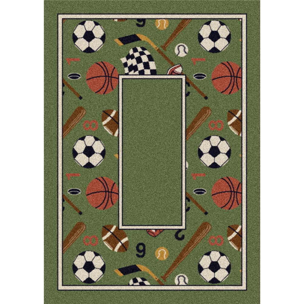 Milliken Design Center Good Sports Rug in Peridot-3.10x5.4 Rectangle