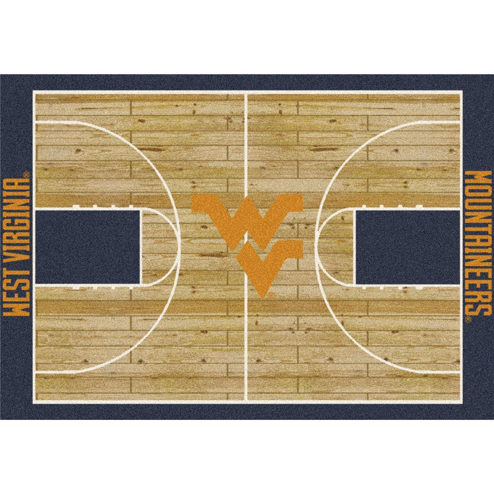 Milliken College Home Court West Virginia Team Rug in 3