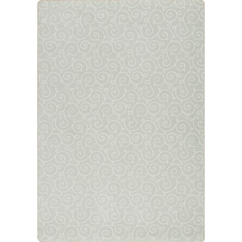 Miliken and Company Imagine Lyrical Area Rug in Aqua Mist