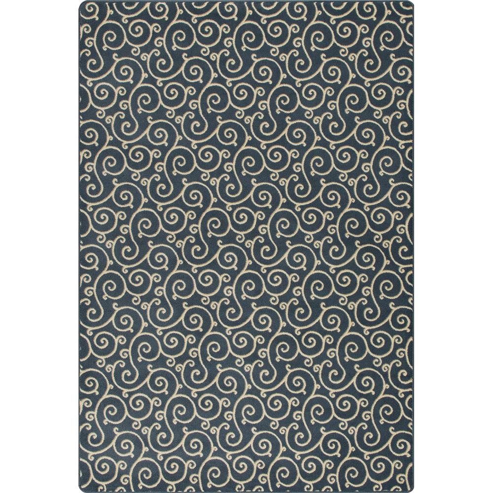 Miliken and Company Imagine Lyrical Area Rug in Imperial Blue