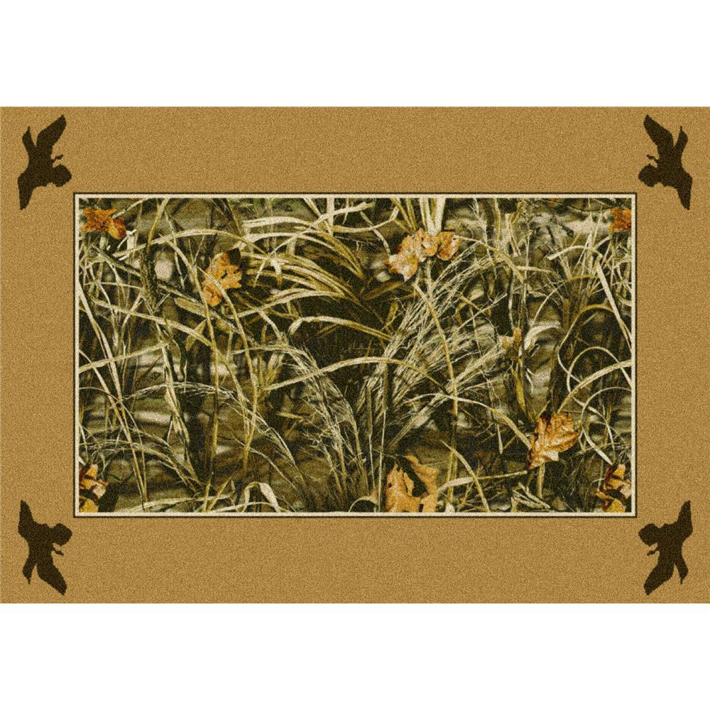 Milliken Realtree Max-4 Solid Border Rug in 46457-2.8x3.10 Rectangle