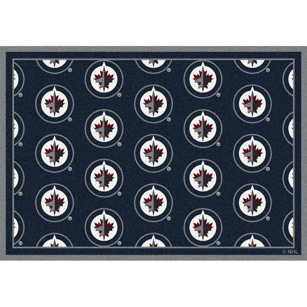 Milliken NHL Team Repeat Winnipeg Jets Team Rug in 3