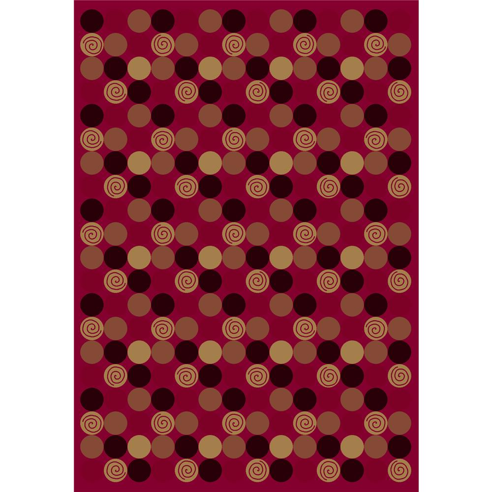Milliken Innovations Da T Da Rug in Cherry-2.8x3.10 Rectangle