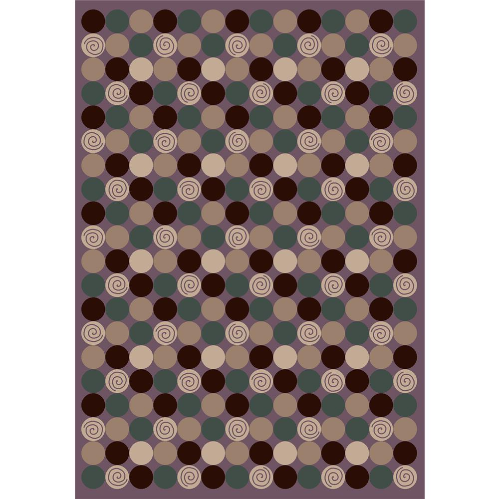 Milliken Innovations Da T Da Rug in Amethyst-2.8x3.10 Rectangle