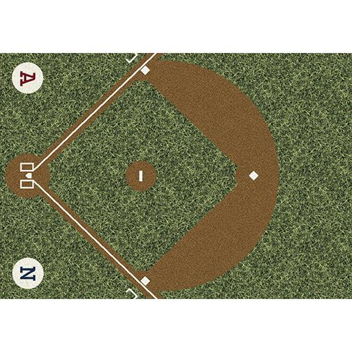 Milliken Theme Rugs 2 Dream Field Rug in Play Ball-3.10x5.4 Rectangle