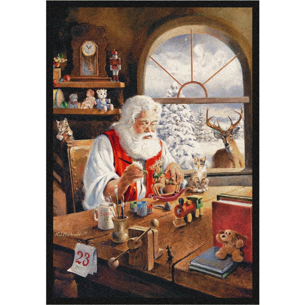 Milliken Holiday Santa Gift Rug in Workshop-2.8x3.10 Rectangle