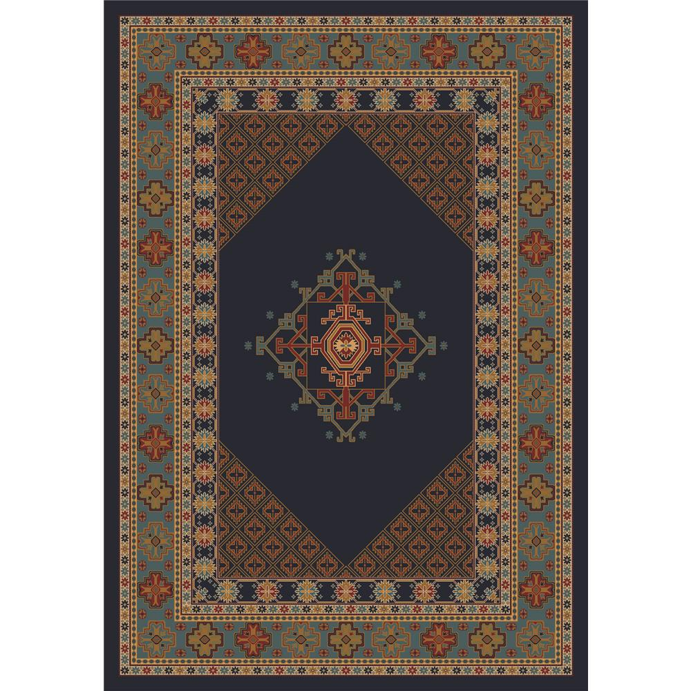Milliken Kashmiran Pastiche Terkan Rug in Ebony-2.8x3.10 Rectangle
