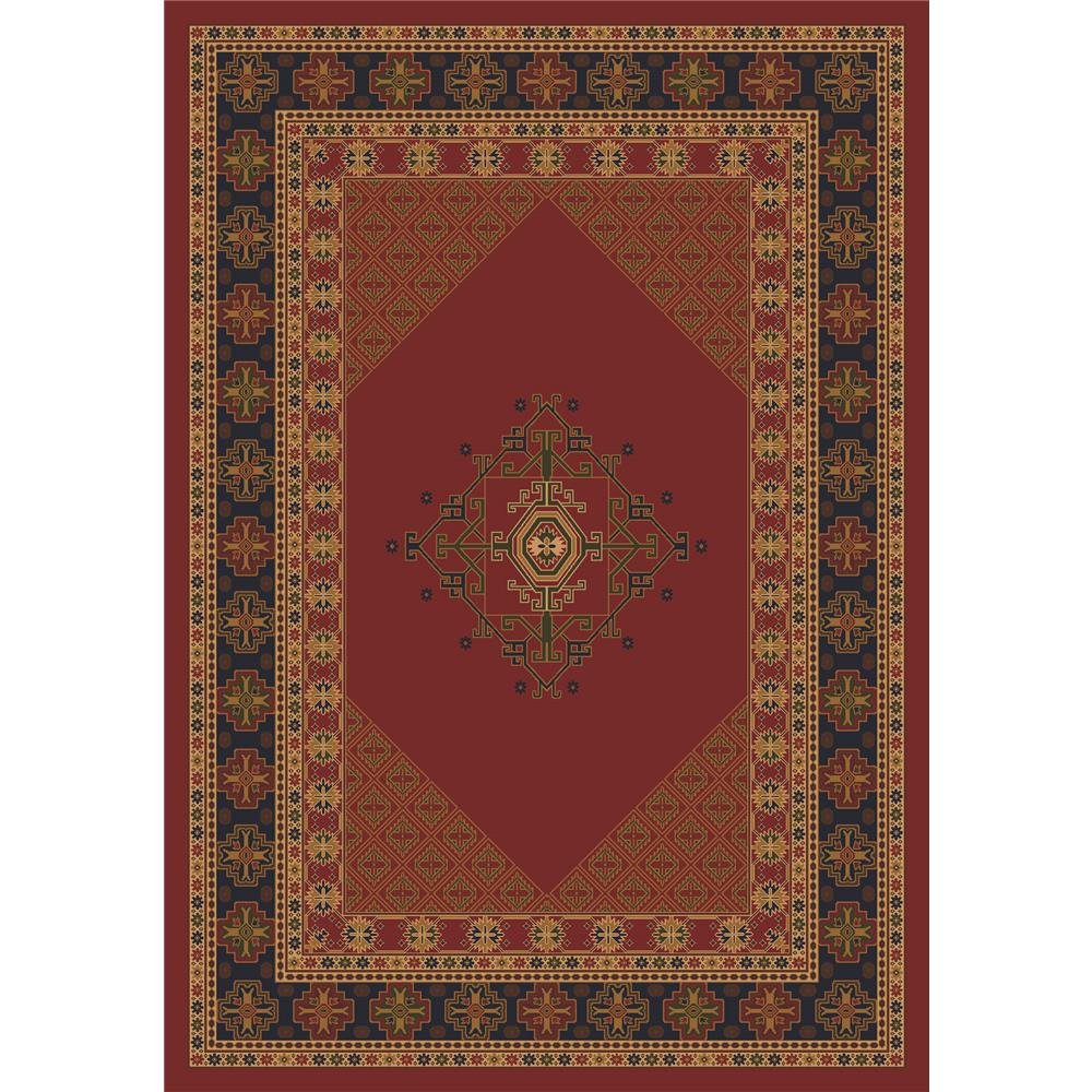 Milliken Kashmiran Pastiche Terkan Rug in Chili-2.8x3.10 Rectangle