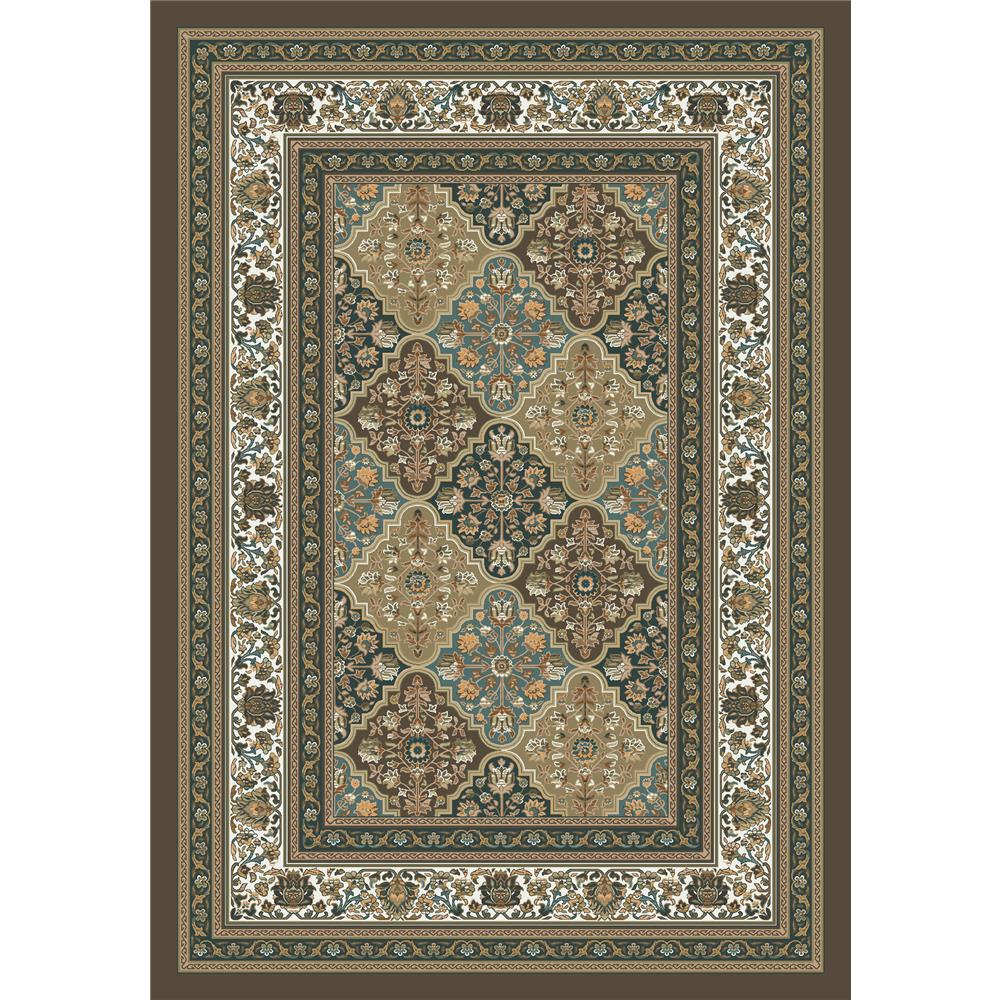Milliken Kashmiran Pastiche Tournai Rug in Hazy Forest-2.8x3.10 Rectangle