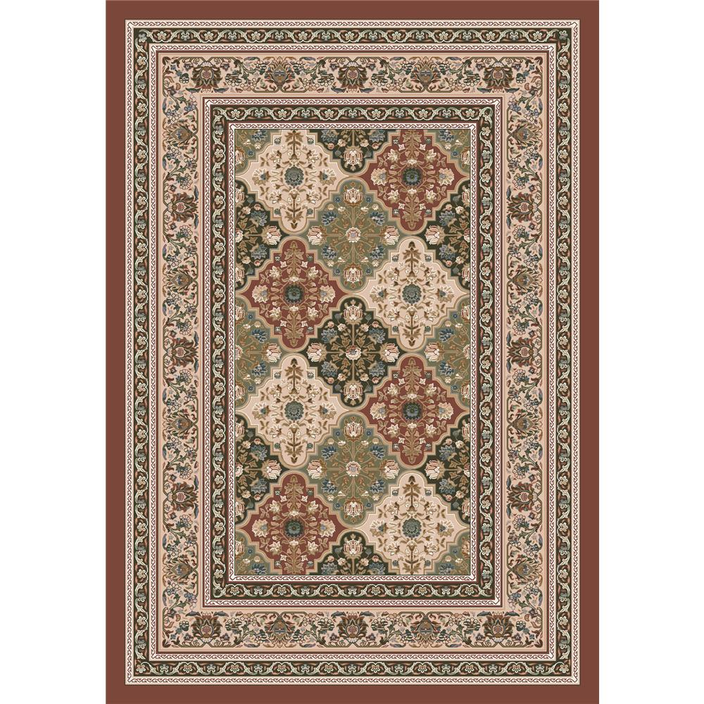 Milliken Kashmiran Pastiche Tournai Rug in Red Clay-2.8x3.10 Rectangle