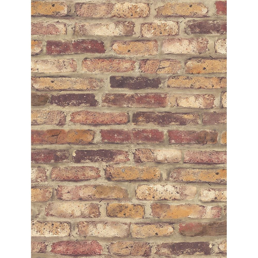NextWall NW30201 Red Faux Brick Wallpaper