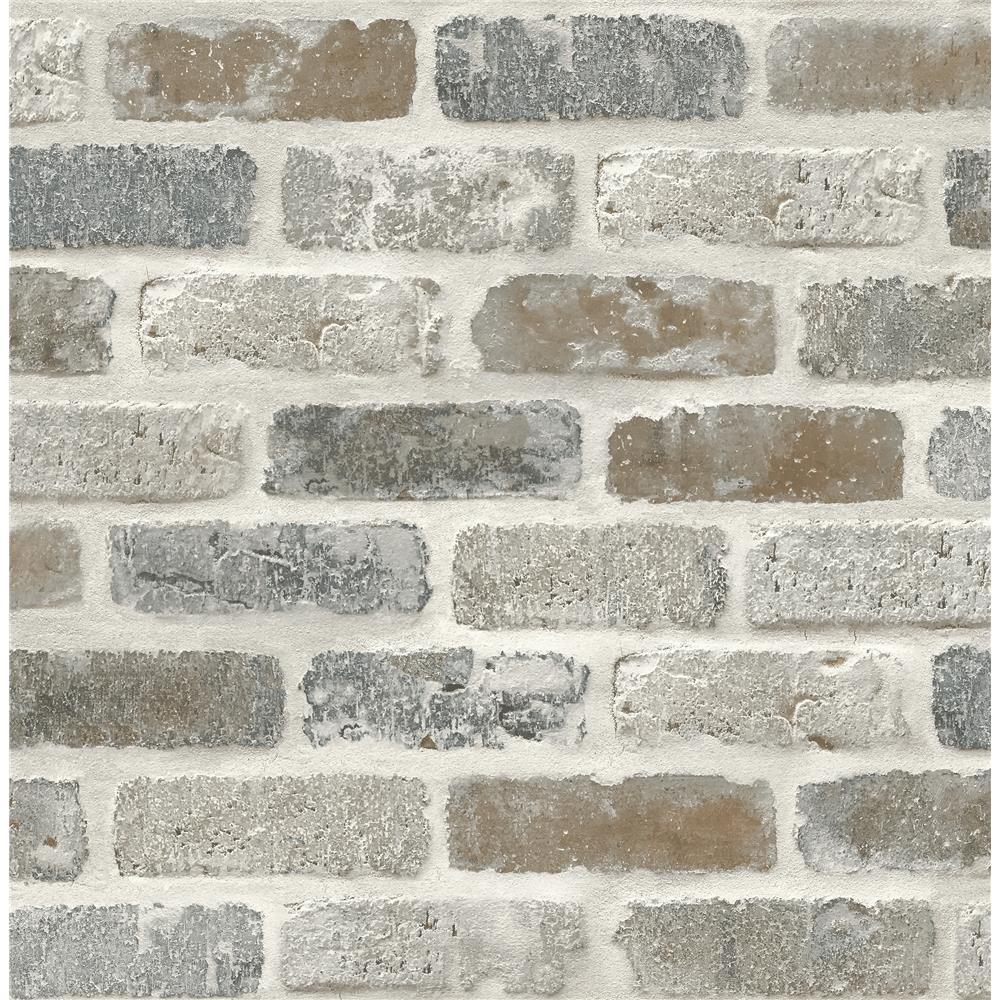 NextWall NW30500 Washed Brick Wallpaper