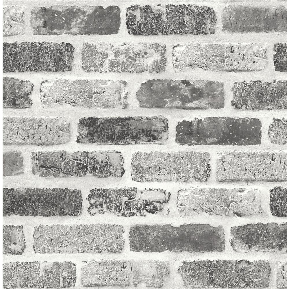 NextWall NW30510 Grey Washed Brick Wallpaper