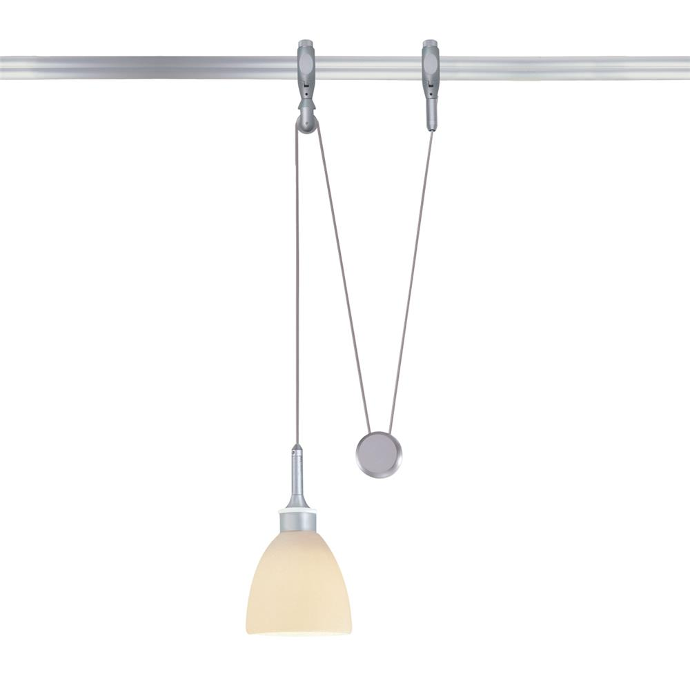 Nora Lighting NRS66-562BNPW Rail Low Voltage Yoyo with Ambra Quickjack in Brushed Nickel with Porcelain White Shade
