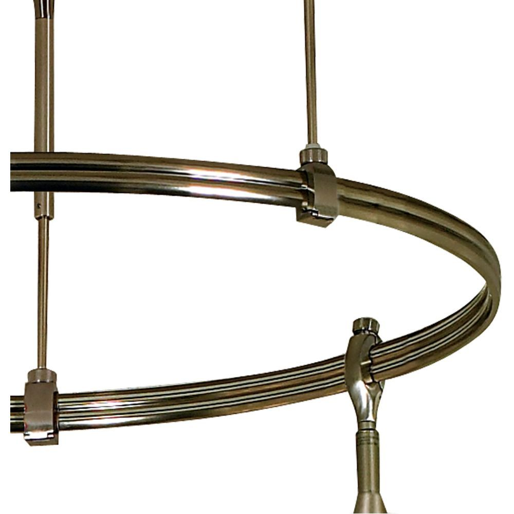"Nora Lighting NRS90-C12-I-BN Rail 24"" Diameter Circle Bus Bars on Inside in Brushed Nickel"