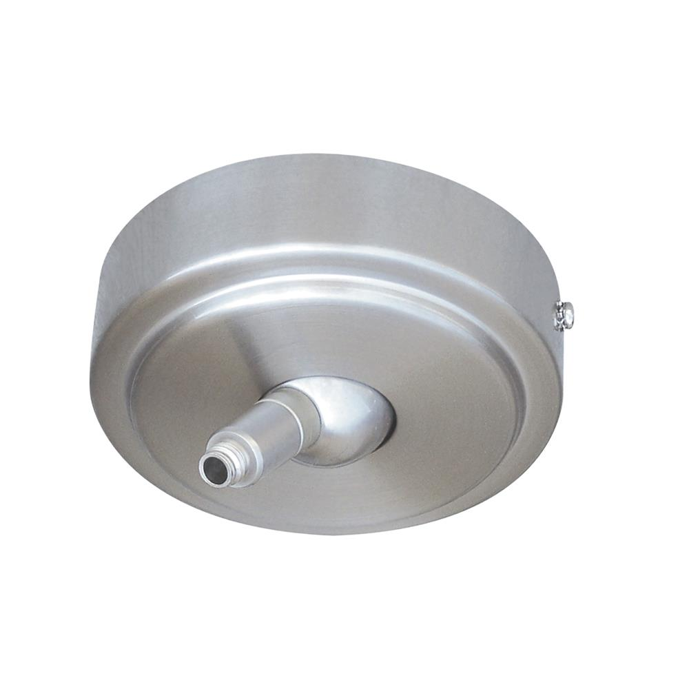 Nora Lighting NRS90-P12BN Rail Monopoint Sloped Ceiling Canopy Quickjack in Brushed Nickel