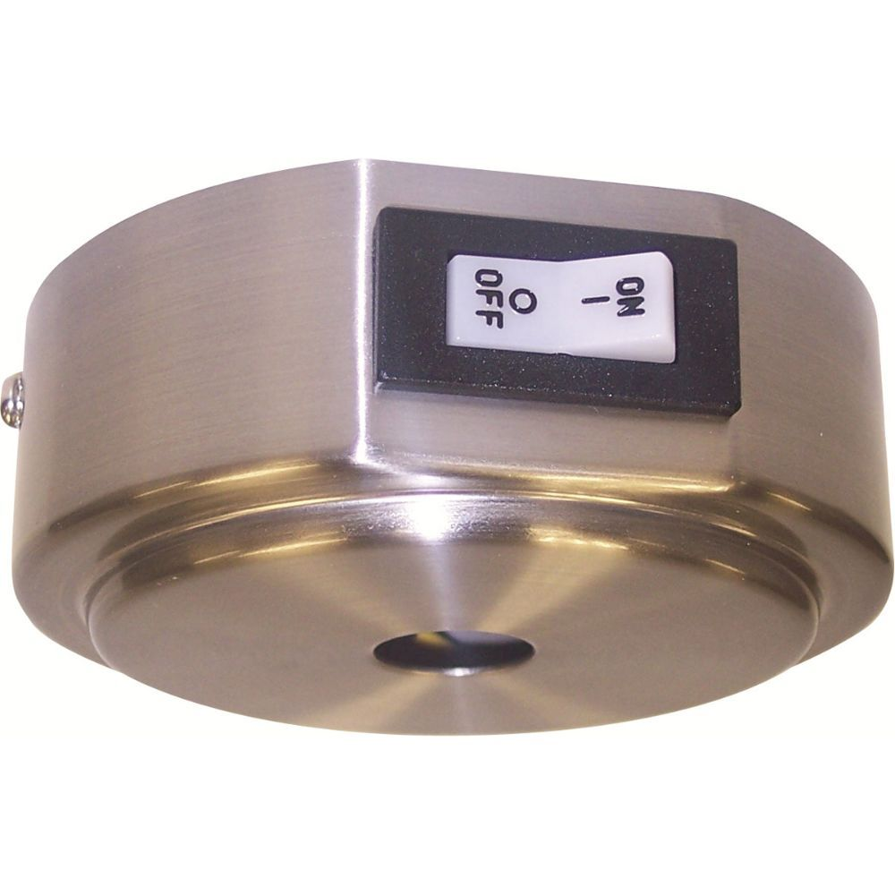 Nora Lighting NRS90-P37/10BN Rail Current Limiter with 10A Circuit Breaker in Brushed Nickel