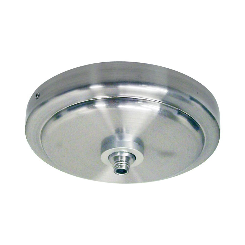 Nora Lighting NRS99-P51BN Rail Shallow Monopoint Ceiling Canopy Quickjack in Brushed Nickel