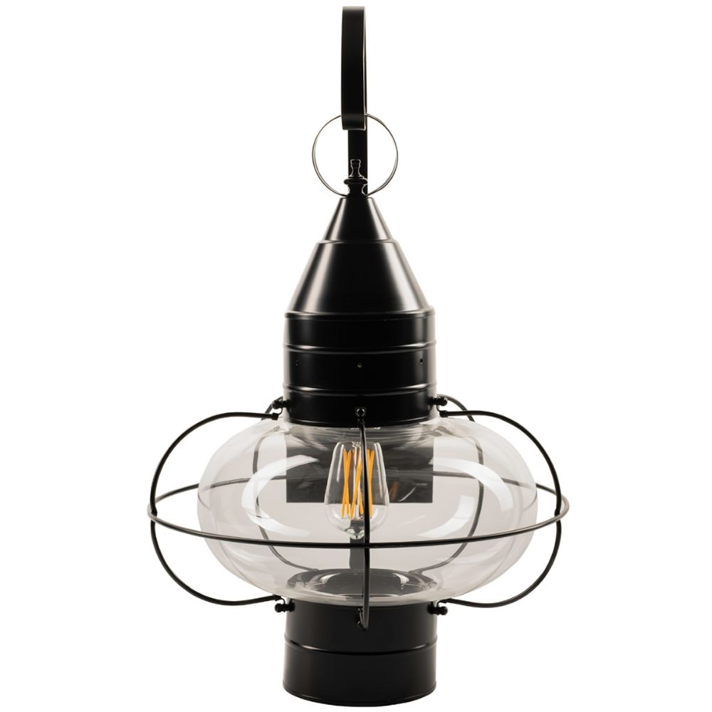 Norwell Lighting 1509-BL-CL Classic Onion  Outdoor Large Wall in Black (Clear Shade)