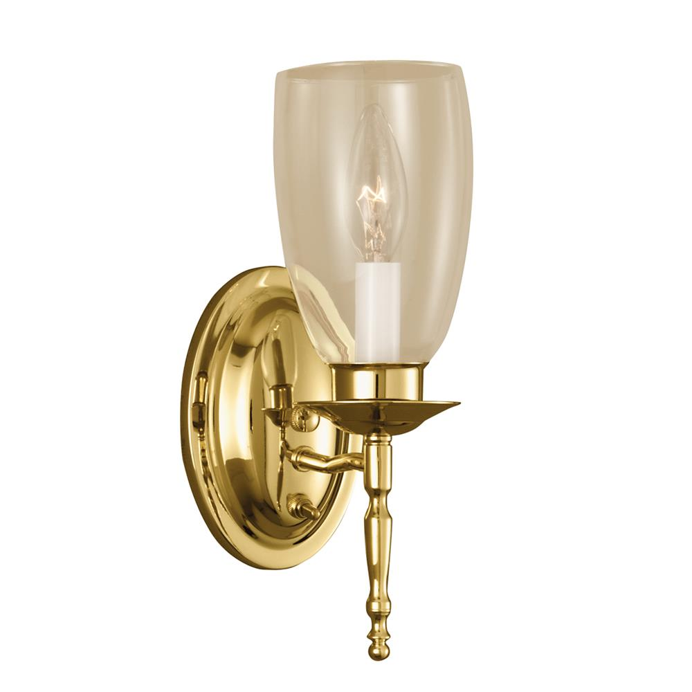 Norwell Lighting 3306-PB-CL Legacy Wall Sconce Wall Sconce in Polished Brass (Clear Shade)