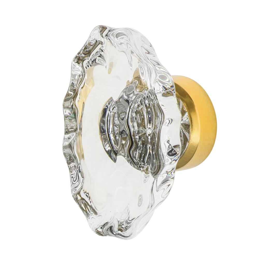 "Nostalgic Warehouse CKB_CHA Chateau Crystal 1 3/4"" Cabinet Knob in Polished Brass"