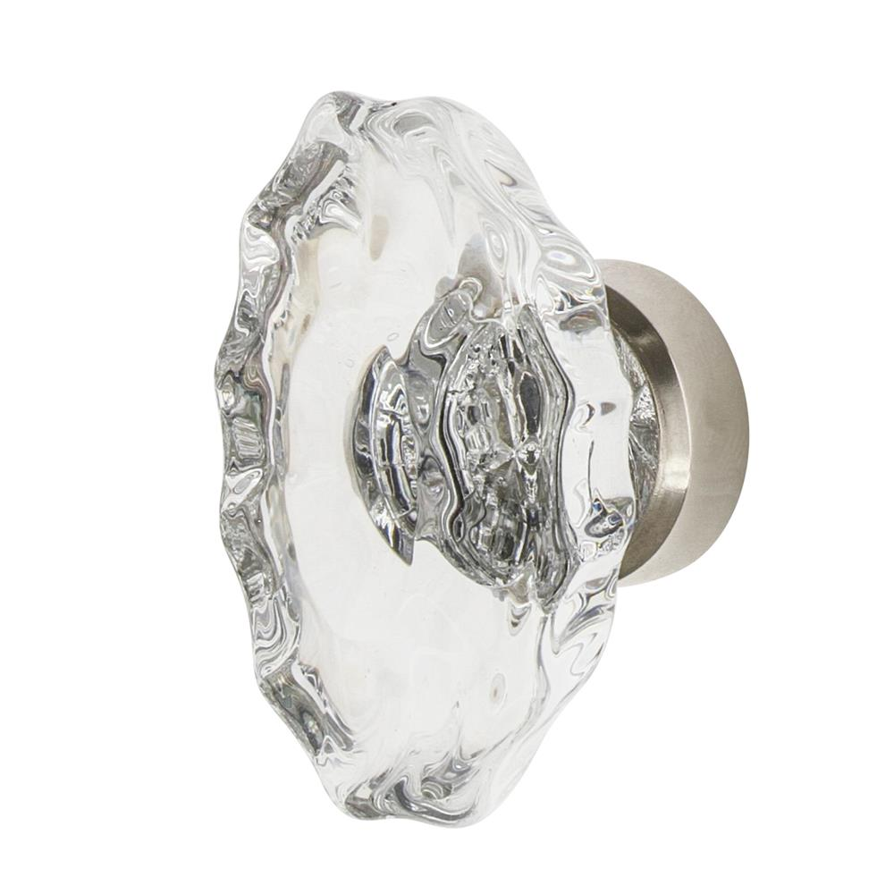 "Nostalgic Warehouse CKB_CHA Chateau Crystal 1 3/4"" Cabinet Knob in Polished Nickel"