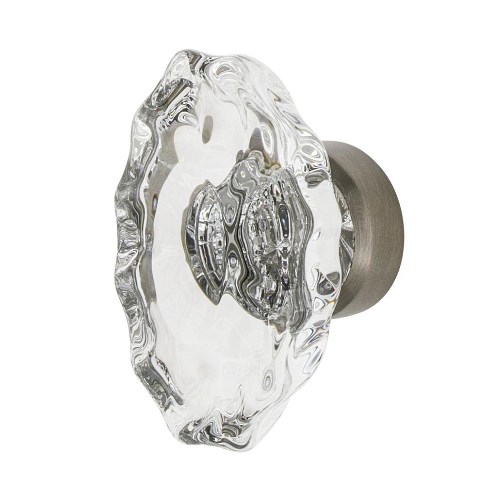 "Nostalgic Warehouse CKB_CHA Chateau Crystal 1 3/4"" Cabinet Knob in Satin Nickel"