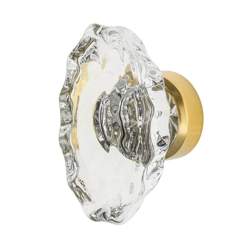 "Nostalgic Warehouse CKB_CHA Chateau Crystal 1 3/4"" Cabinet Knob in Unlacquered Brass"